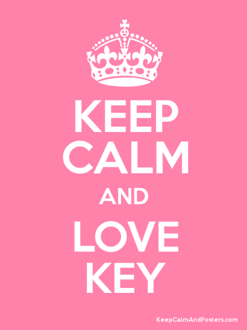 criitablinger:  Keep calm and love key