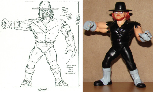 Hasbro Prototype vs Hasbro Figure - The Undertaker - 1992 I don't collect wrestling figures or toys of any kind, BUT I think that I might just have to hunt this figure down due to the silly expression he has on his face.