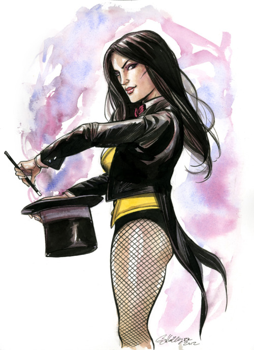 thehappysorceress:  Happy Birthday, Zee! Zatanna by Ryan Kelly Magic Monday