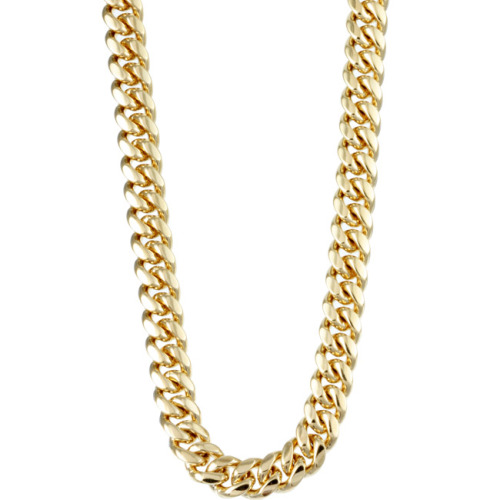 asthetiques:  14K GOLD - MIAMI CUBAN LINK CHAIN.