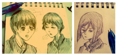 gomen, i got bored. and so here's male chitanda, mayaka and irisu. ohoho okay imdone.