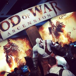 Sick God of War setup at #PAX