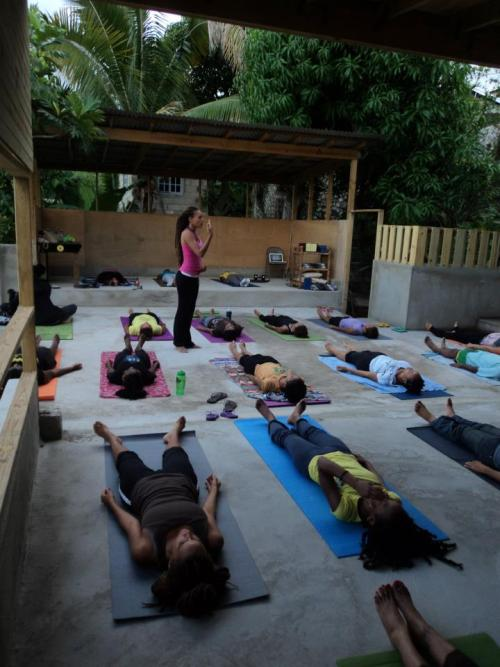 balancepath:  now float…  blackyogis:  Corpse Pose Savasana  Skyline Yoga Kingston, Jamaica