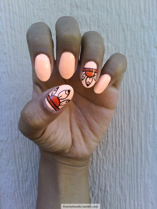 freestylenails:  Native American inspired.