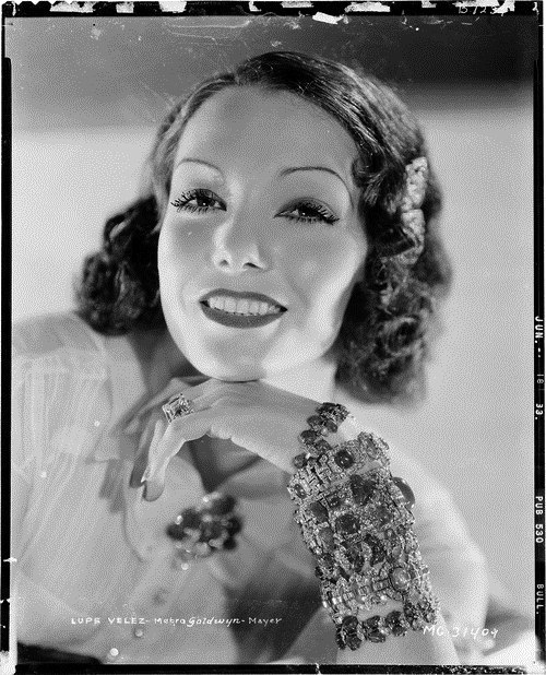 7000-4987 (by AliceJapan) Camera negative of Lupe Velez by Clarence Sinclair Bull.