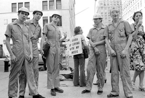 Devo in New York City, 1977.