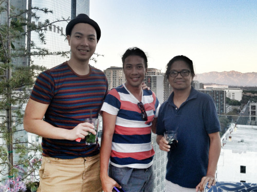 With friends at the Perch. Tonipet and Neil. #staycation