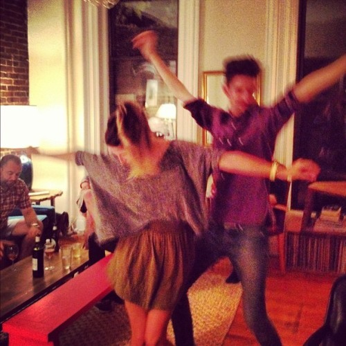 my dance moves are getting serious. briennewalsh:  Spread ya wings. (Taken with Instagram at TheProf's)