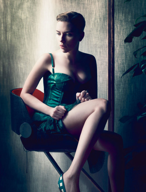 Scarlett Johansson photographed by Solve Sundsbo for Interview Magazine, December 2011