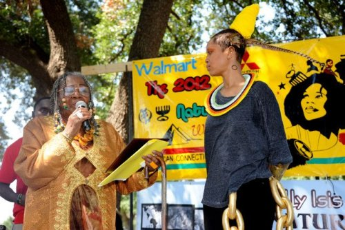 "LOVE: natural hair parade & festival honors @fatbellybella as grand marshal & crowns her ""empress of swag"". posted by knimi."