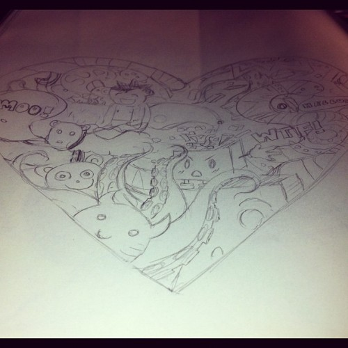 Scribbles. #scribbles #doodles #sketching #t-shirt design (Taken with Instagram)