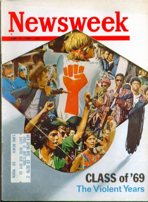 "Back to School!Newsweek, June 23, 1969. ""Class of '69: The Violent Years"""