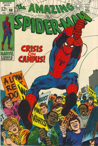 Back to School!The Amazing Spider-Man, January 1968. Cover: John Romita
