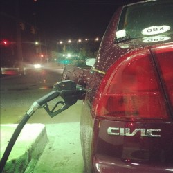 #jdmphotoaday #civic #day 2 #honda #hondalove #love #daily #honda4life #hondaforlife #taillight #gas #pump #shell  (Taken with Instagram)
