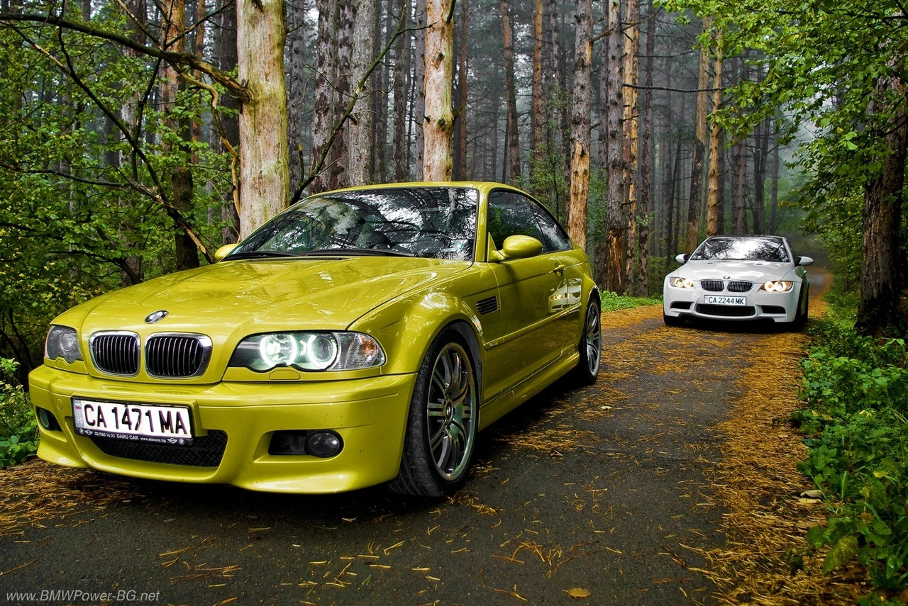 Phoenix Yellow E46 & Alpine White E92 M3's