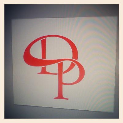 Working on my new portfolio logo.