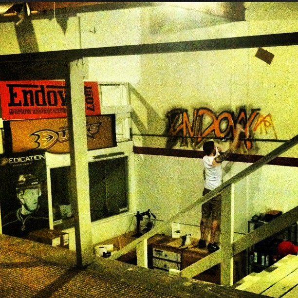 My view right meow 🐯 #graffiti #endovx #losangeles #la @endovx @endovx @endovx @endovx  (Taken with Instagram)