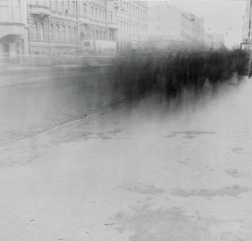 museumuesum: Alexey Titarenko, Untitled (Crowd 3), 1992. 'from City of Shadows Series, St. Petersburg 'gelatin silver print, 16 x 16 inches'