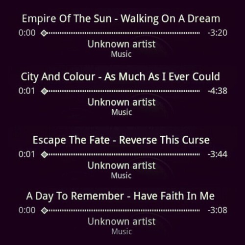 My loves for today (: #empire #Sun #empireofthesun #walking #dream #walkingonadream #city #colour #cityandcolour #dallasgreen #asmuchasievercould #as #much #I #ever #could #escape #the #fate #escapethefate #reverse #this #curse #reversethiscurse #adtr #adaytoremember #havefaithinme #have #faith #music #songs #ilovethem #goodshit  (Taken with Instagram)
