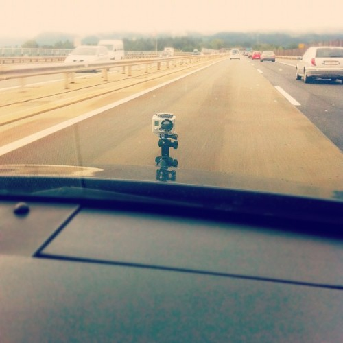 Taking #photos every two seconds between #Villach and #Klagenfurt. #gopro #hero2 #car #highway #suctioncup #filming #interval #timelapse #shooting #iphone4 #iphoneonly  (Taken with Instagram)
