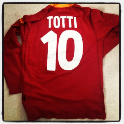 Shirt of the day: Roma, kappa, 2001 (Totti) courtesy of @shindles5