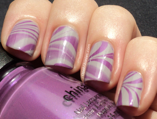 Purple/grey marble