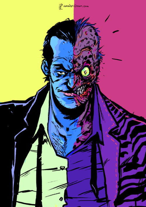 Two-Face in his amazing Batman Forever pink tiger-striped jacket by Mike Dialynas