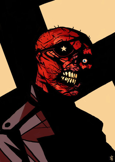 The Red Skull by Mike Dialynas.  The eyepatch is a nice touch.
