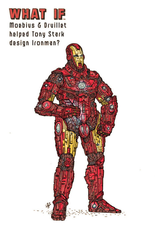 Mike Dialynas redesigns Iron Man's armor with the help of Jean Giraud and Philippe Druillet