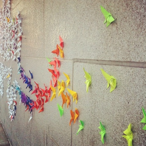 Origami street art outside the Asian Art Museum in San Francisco