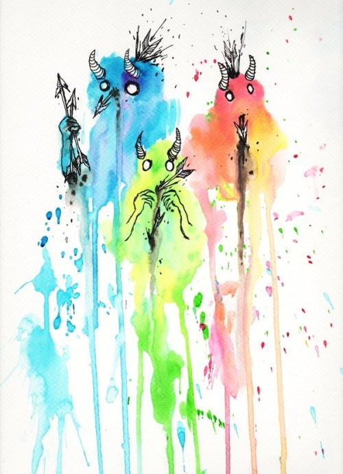 eatsleepdraw:  Watercolor and Ink; More art and sketches on my tumblr