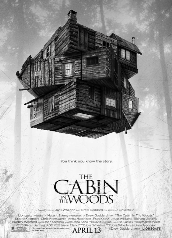 The Cabin In The Woods (2011) R18+ Main Cast: Chris Hemsworth, Kristen Connolly, Anna Hutchison. Five teenagers head off for a weekend at a secluded cabin in the woods. They arrive to find they are quite isolated with no means of communicating with the outside world. When the cellar door flings itself open, they of course go down to investigate. They find an odd assortment of relics and curios but when one of the women, Dana, reads from a book she awakens a family of deadly zombie killers. There's far more going on however than meets the eye as the five campers are all under observation Personal opinion: The first half/three quarters of this movie I wasn't sure at all where it was going or what was happening or how I felt about it. But then. THEN I was on the edge of my seat screeching with excitement. That's all I'm saying :3 Favourite | Good | Neutral | Burn It