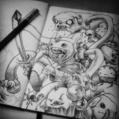 ZOMBIE ADVENTURE TIME!! so cool