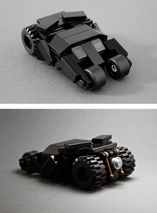 thekhooll:  Batman Tumbler A tiny replica of the Batman Tumbler, created in LEGO by Tiler.
