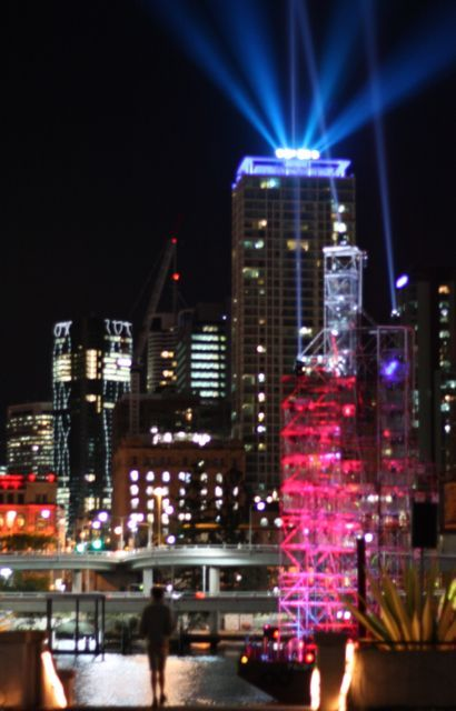 betweenthedogandthewolf:  Laser Show Being Prepared for Brisbane Festival, Southbank