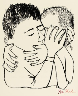 black-hands:  For the Sake of a Single Verse. Illustration by Ben Shahn (1968). Found here.