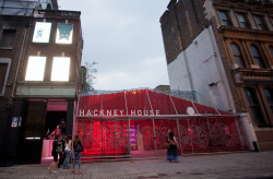 The Pop-up Hackney House: a networking venue for media, business and investors. An exhibition, media and conference centre, with a programme of events and live entertainment during the London Olympics.