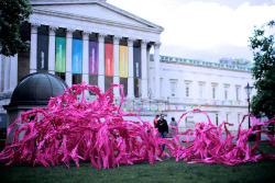 Whats that pink stuff in front of the UCL? Bartlett School of Architecture takes to the streets during the Olympics. Bloom in the UCL Quad by Bartlett School of Architecture UCL on Flickr.