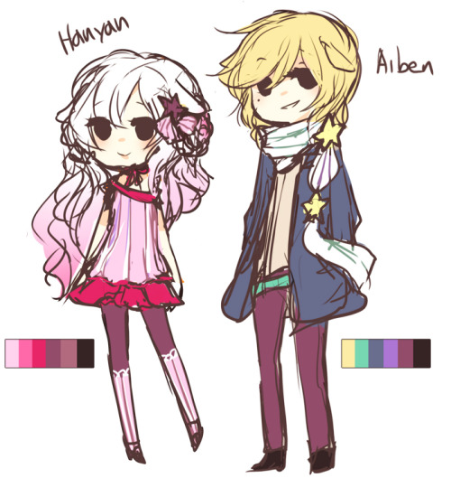 Gijinkas of my alpacas *v*