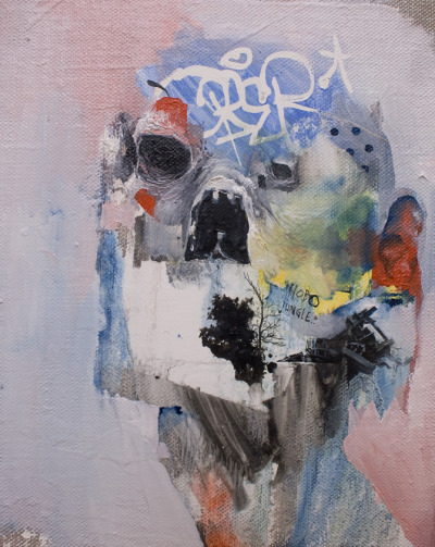 darksilenceinsuburbia:  Joram Roukes. Hobo Jungle, 2012. Oil on canvas, 24 x 30 cm. Via