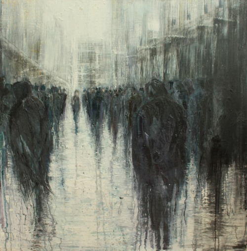 artchipel:  Leslie Oldaker | on Tumblr - Passing Through. Oil on canvas, 90x90cm, 2012 Original available here >