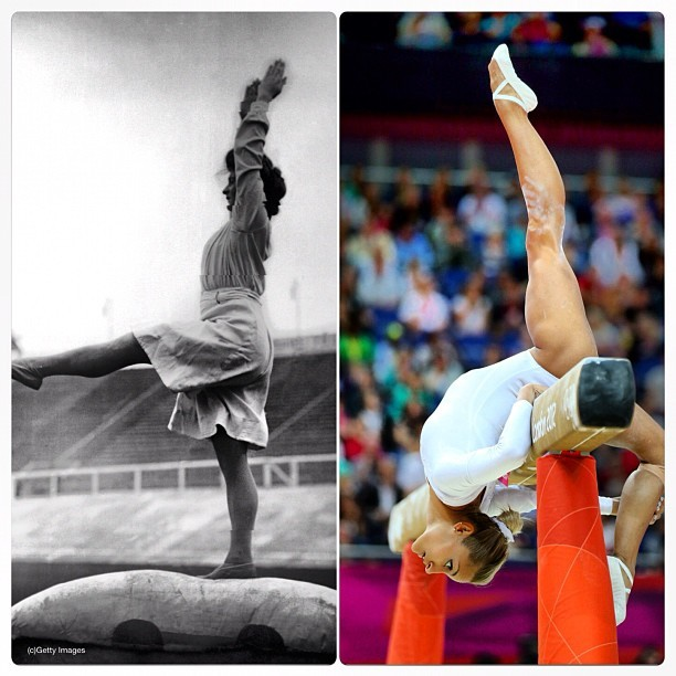 Gymnastics London 1908 - Gymnastics London 2012 #olympics  (Taken with Instagram)