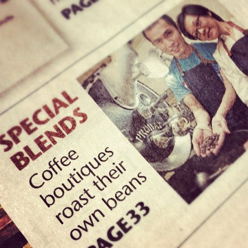 Interesting article about the local roasting scene, bustling with old and new players, fresh optimism and new challenges. In case you missed it, you might have to go dig up the Life section of 2 Sept edition Sunday Times.