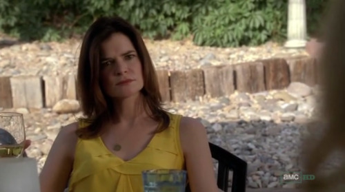 The most shocking thing about last night's Breaking Bad finale was Marie's yellow shirt.
