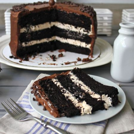 bakeddd:  dark chocolate salted caramel cake click here for recipe