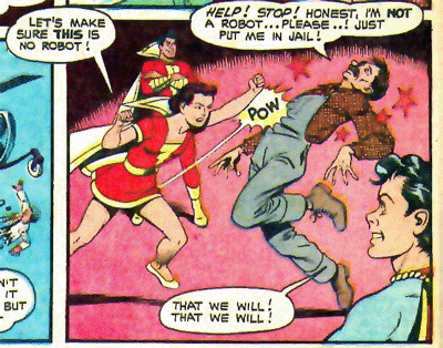 Mary Marvel Month, Day 15! I would totally have read Mary Magnus: Robot Fighter. (From Marvel Family Adventures #89, art by the always fantastic Kurt Schaffenberger).