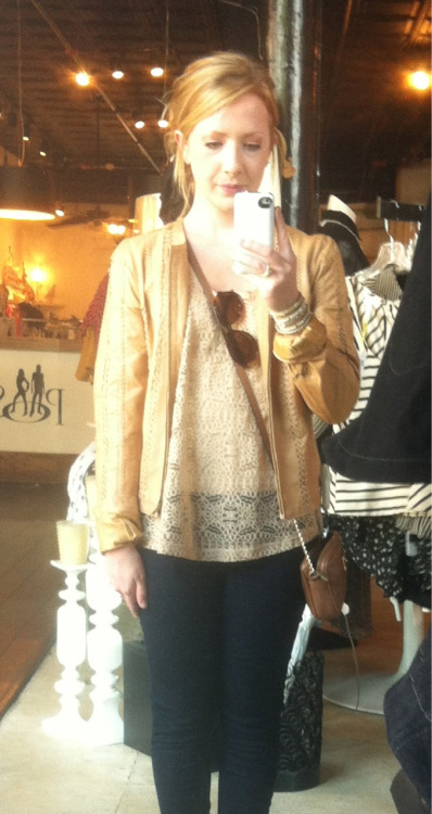 found my dream leather jacket!!! at a little boutique in hillsboro village!