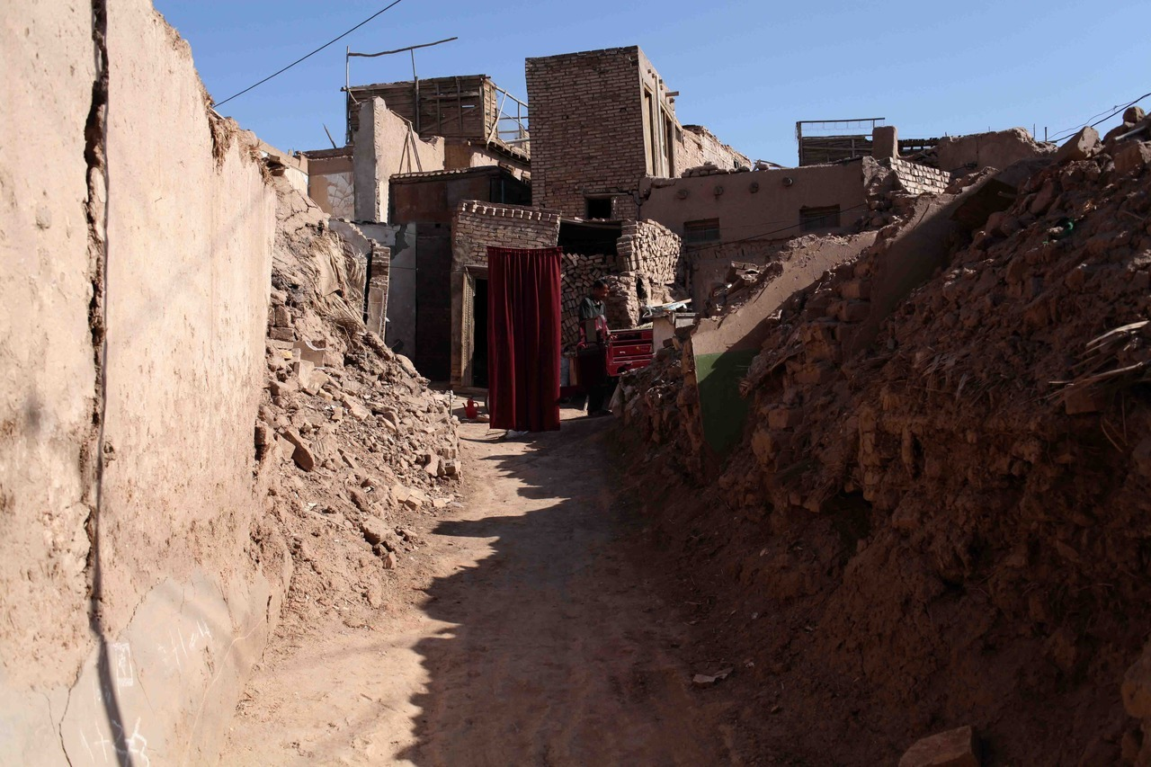 Kashgar, Xinjiang Uyghur Autonomous Region, China. The Old City of Kashgar which dates back hundreds of years is being torn down and Chinese authorities have cited poor sanitation and instability during earthquakes as reasons.