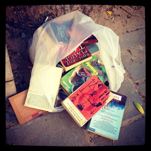 Hate to see a thrown out book, no matter what language it is. #book #nostalgic #street  (Taken with Instagram at Eshkol Garden)