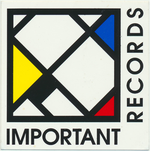 An undated promotional sticker for the label Important Records from Groveland, MA.